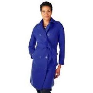 Isaac Mizarhi Royal Blue Trench Coat SZ XL
